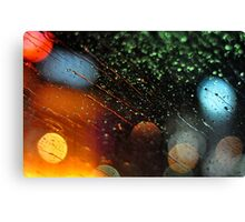 View from a Tokyo taxi. Canvas Print