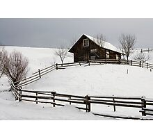 old house and fence Photographic Print