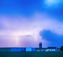 Colorado Country Lightning Storm by Bo Insogna