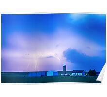 Colorado Country Lightning Storm Poster