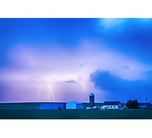 Colorado Country Lightning Storm Photographic Print