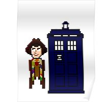 Fourth Doctor Pixel Art Poster