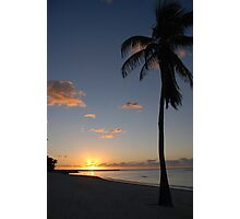 Another pretty sunrise in Key West FL Photographic Print