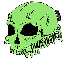 Dripping With Sarcasm - Green Skull by zombieCraig