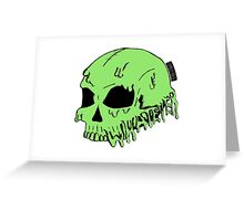 Dripping With Sarcasm - Green Skull Greeting Card