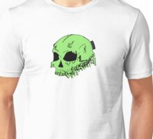 Dripping With Sarcasm - Green Skull Unisex T-Shirt