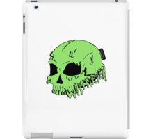 Dripping With Sarcasm - Green Skull iPad Case/Skin