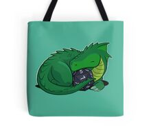 D20 Green Dragon Tote Bag