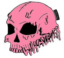 Dripping With Sarcasm - Pink Skull by zombieCraig