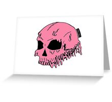 Dripping With Sarcasm - Pink Skull Greeting Card