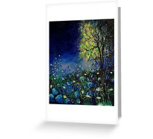 Blue poppies and daisies  Greeting Card
