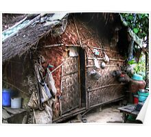 Shan bamboo house Poster