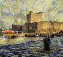Starry Carrickfergus Castle by Nigel R Bell