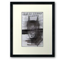 Batman de Tagalog Framed Print