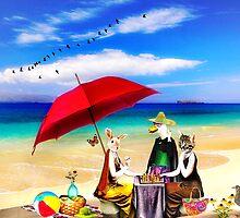 Sunday on the Beach by Nadya Johnson