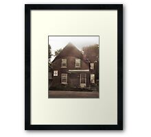 Old House in a Circle of Light Framed Print