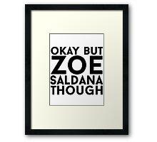 Zoe Saldana Framed Print