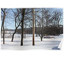 Wintery Landscape Hidden Raised Garden 10 Poster