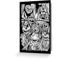 Zombie Puppet Theater Greeting Card