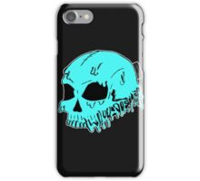 Dripping With Sarcasm - Turquoise Skull iPhone Case/Skin