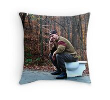 When Ya Gotta Go.... Throw Pillow