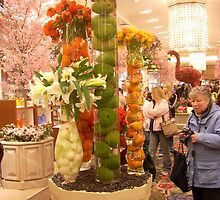 Floral Fruit Display Macy's NYC by porksofpig