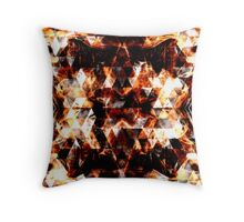 Triangle geometric sparkly fire Throw Pillow