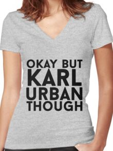 Karl Urban Women's Fitted V-Neck T-Shirt