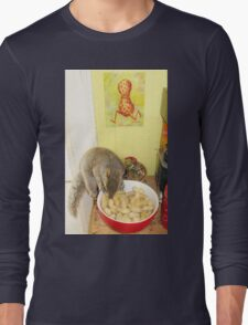 Rupert Acrobat, With Legumes... For Cindy Long Sleeve T-Shirt