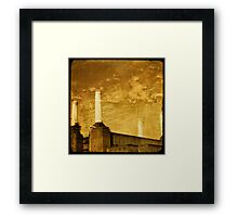 battersea powerstation Framed Print