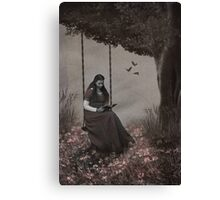 Under the Old Oak Canvas Print