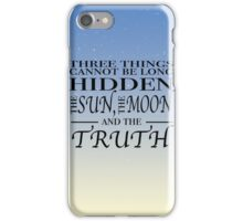 The Sun, The Moon, The Truth iPhone Case/Skin