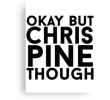 Chris Pine Canvas Print