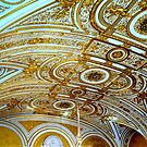 Gold and Blue Room Ceiling by Braedene
