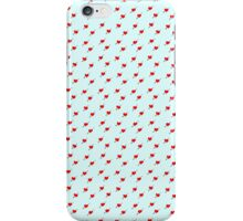 Red love hearts with cupids arrow iPhone Case/Skin