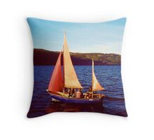Red Sails In Broad Daylight ~ Loch Ness Throw Pillow