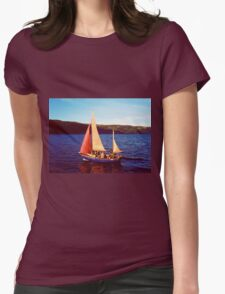 Red Sails In Broad Daylight ~ Loch Ness Womens Fitted T-Shirt