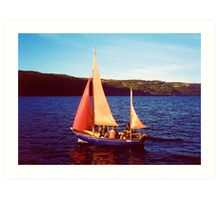 Red Sails In Broad Daylight ~ Loch Ness Art Print