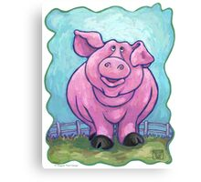 Animal Parade Pig Canvas Print