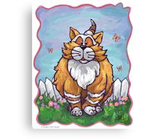 Animal Parade Ginger Cat Canvas Print