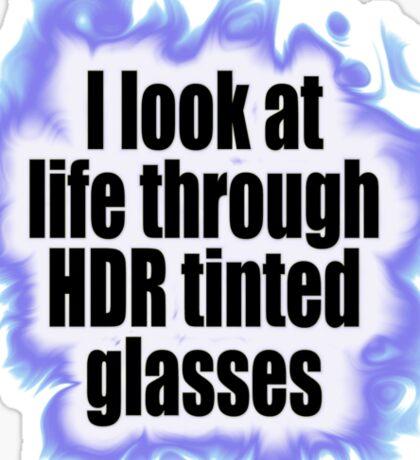 HDR Glasses Sticker