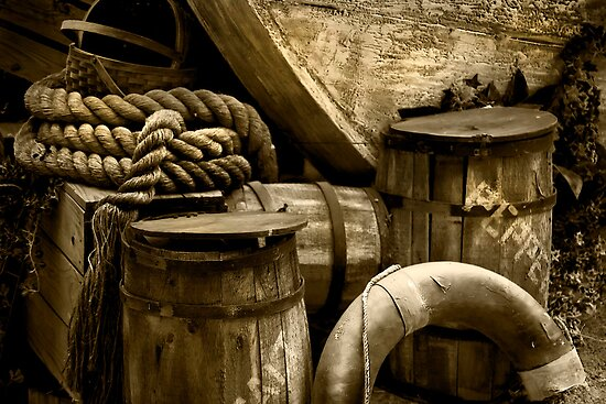 Wood, Barrels and Rope at Busch Gardens by Melissa Gurdus