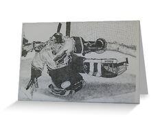 Goalie Greeting Card