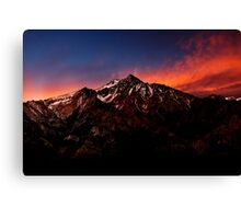 Mount Whitney At Sunset. Canvas Print