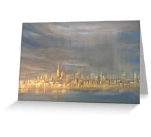 After the Rain- NYC view from Sandy Hook  Greeting Card