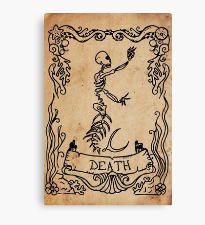 Mermaid Tarot: Death Canvas Print