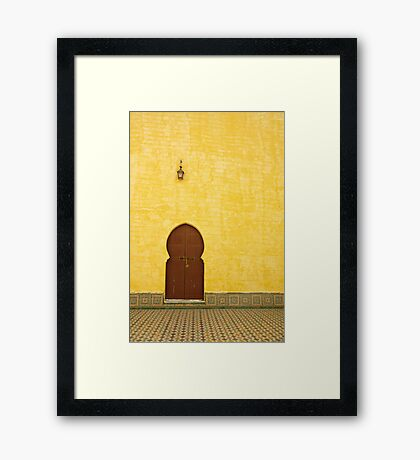 The Mausoleum of Moulay Ismail Framed Print