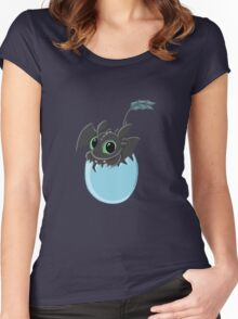 Baby Toothless Women's Fitted Scoop T-Shirt