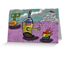 world ruled by robots  Greeting Card