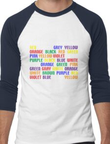 What's My Color Men's Baseball ¾ T-Shirt